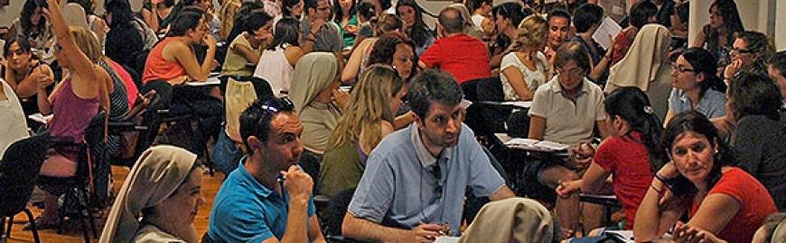 Imagen del curso de formación de profesores de Pureza de María en el CESAG