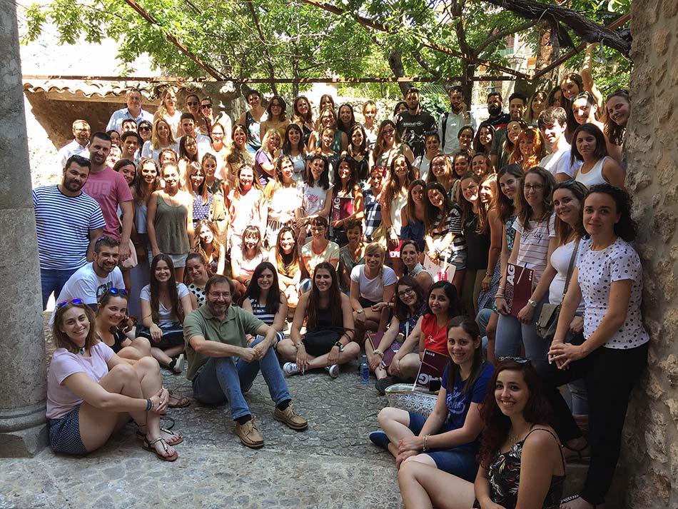 Imagen de grupo de los participantes en el Seminario Presencial de la DECA del CESAG en Valldemossa. Junio de 2018